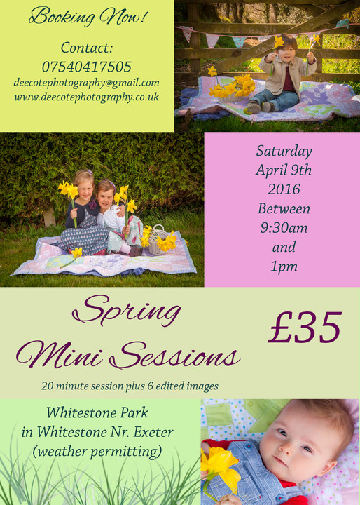 Spring Mini Sessions!   FAQ's