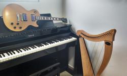 Piano, Guitarra e Harpa