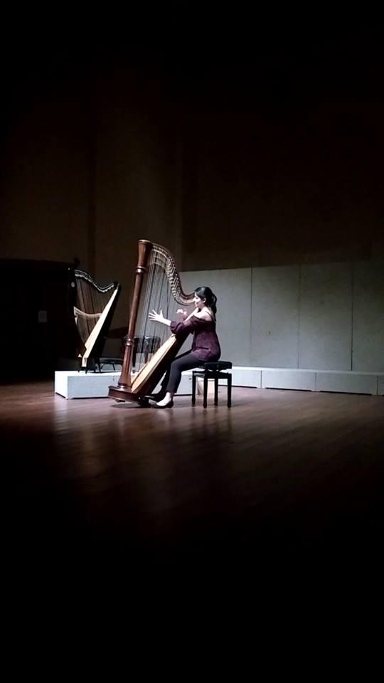 Recital dos alunos de harpa