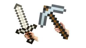 Pixel Foam Sword and Pickaxe Combo