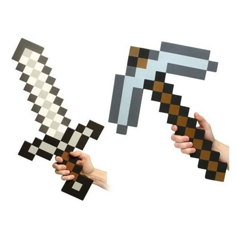 Foam Pixel Theme Sword and Pickaxe