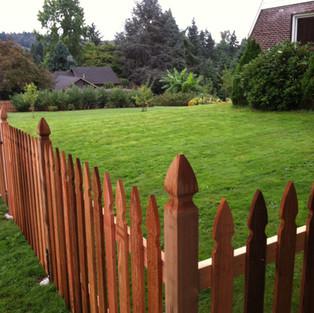 Custom picket fence.