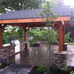 patio cover with full landscape