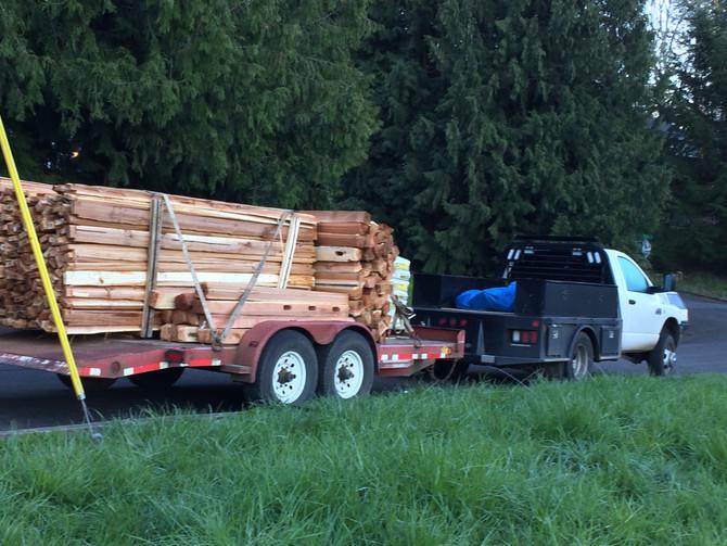 Started a cedar split rail fence in clackamas county