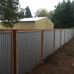 Custom galvanized fence