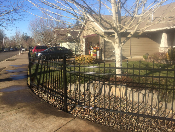 Wrought Iron fence construction