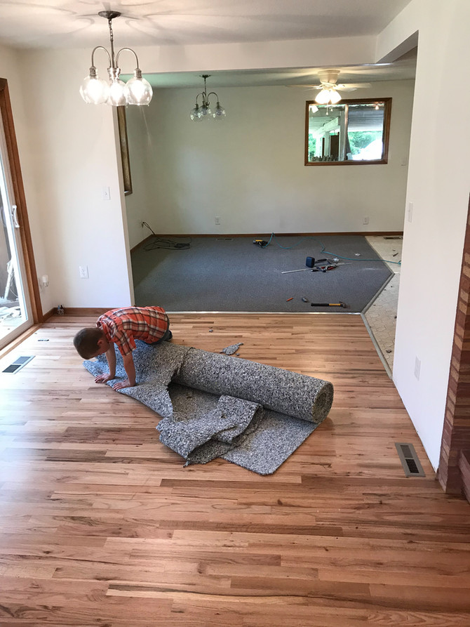 Finishing up a small remodel in Eagle Creek Oregon