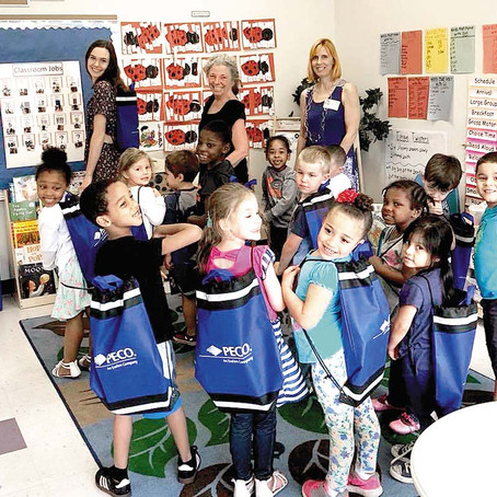 Head Start Students Receive Backpacks and Books