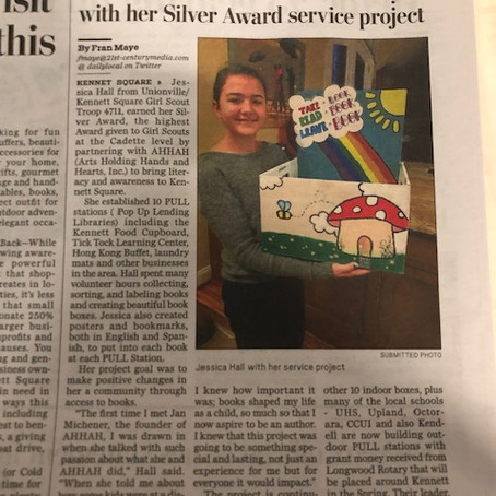 Local Girl Scout celebrates literacy with her Silver Award service project
