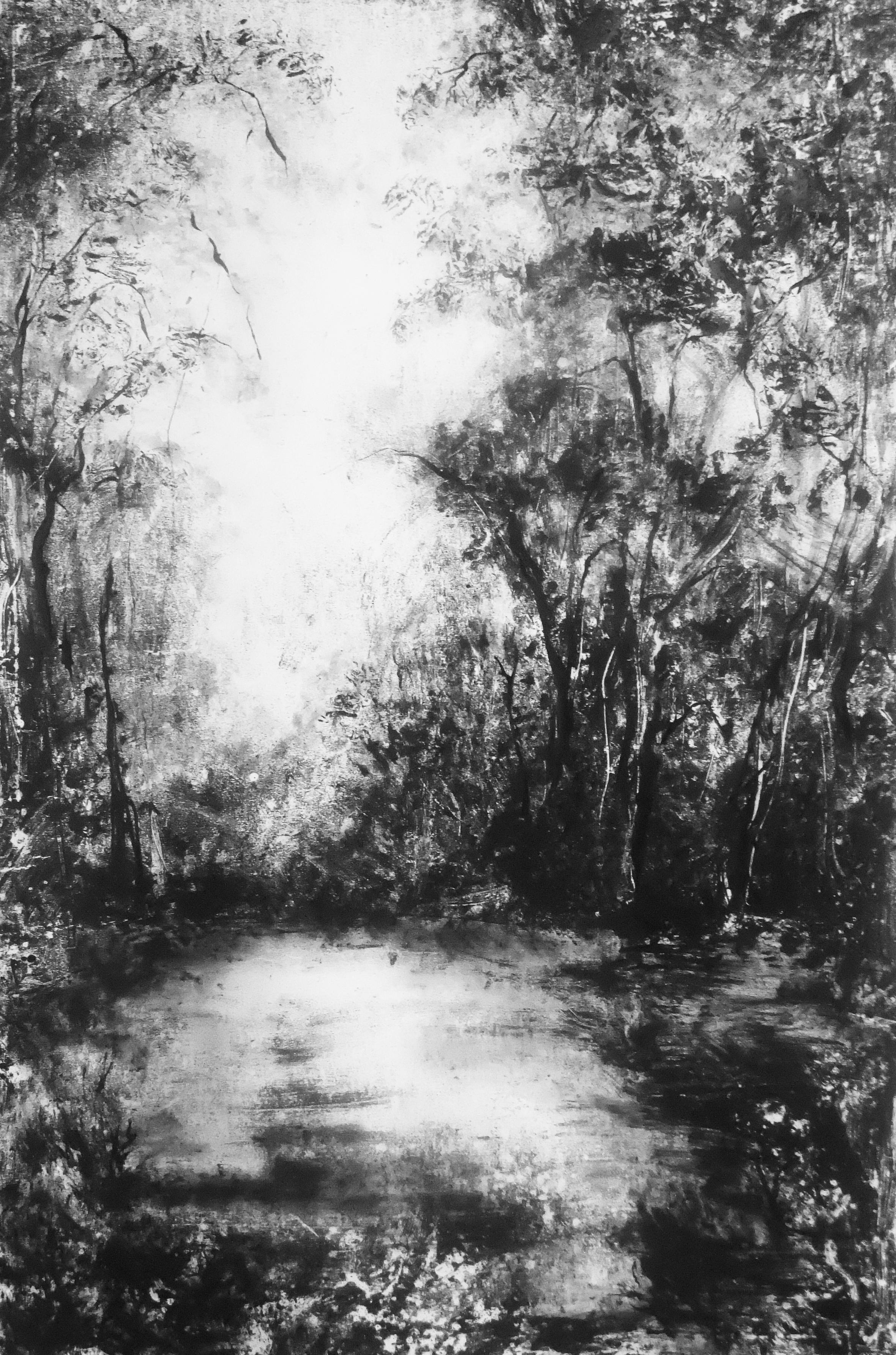Sans titre, Monotype encre, 88x134 cm, 2017