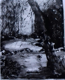 Petit format, Monotype encre, 24x30 cm, 2017