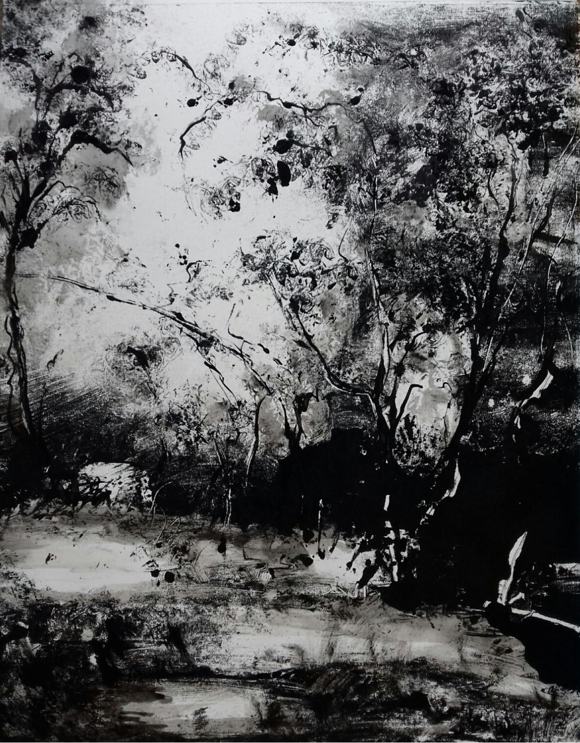 Monotype encre, 50x70 cm, 2017
