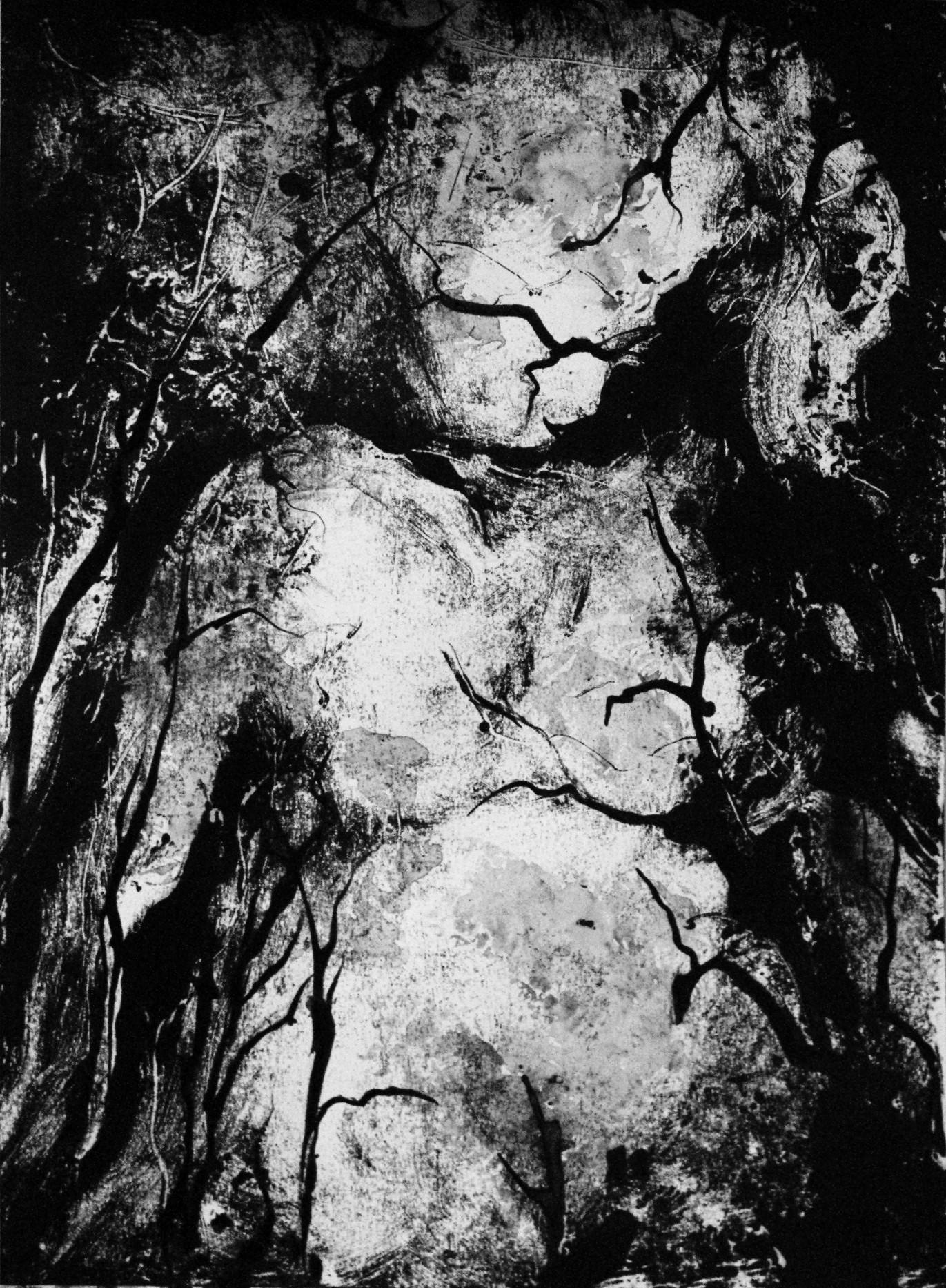 Femme 3, Monotype encre, 30x40 cm, 2018