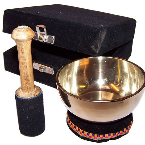 Brass Singing Bowl - Gift Set - Approx 9cm