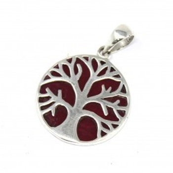Tree of Life Silver Pendant 22mm
