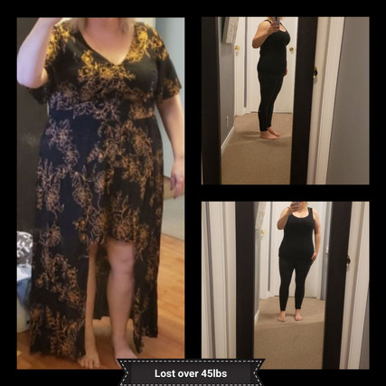 Weight loss over 45lbs
