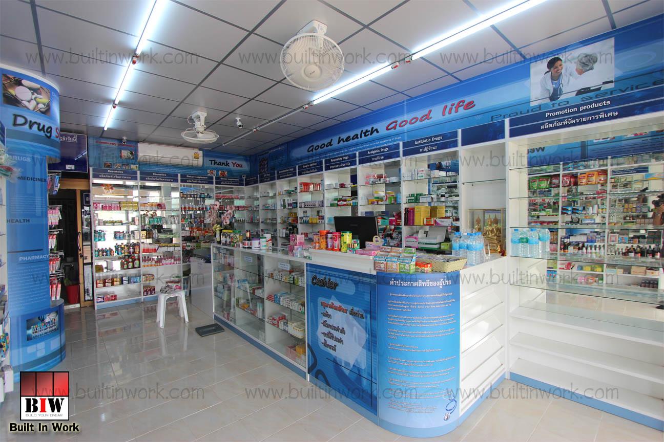 ตกแต่งร้านขายยา สุขพงษ์ไทยเภสัช 2