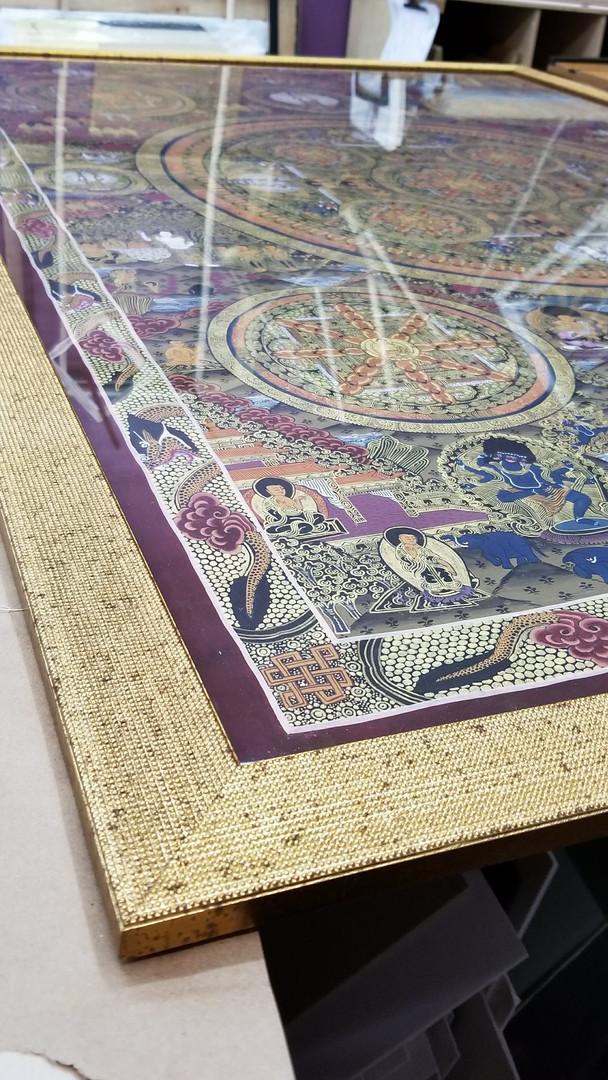 Mandala and Roma frame detail