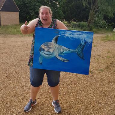 Shark Painting Rachel Baker Artist