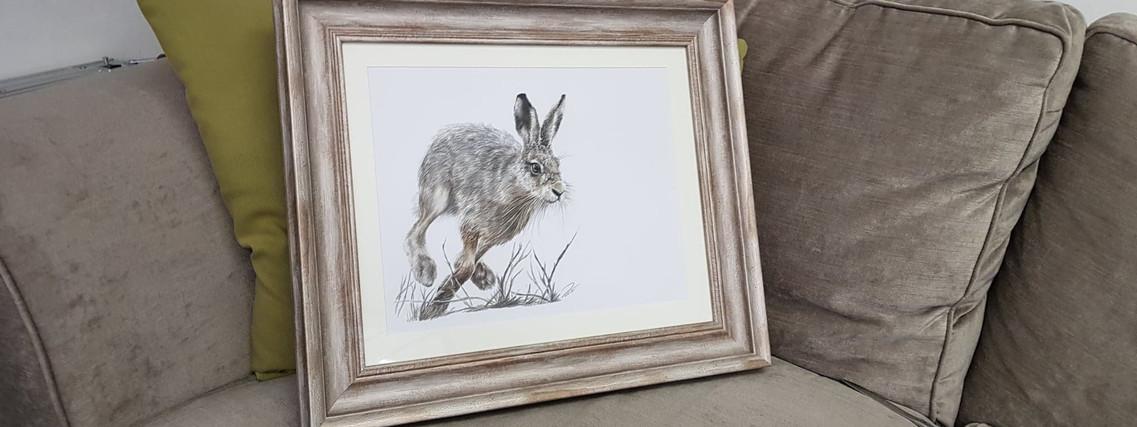 Run Rabbit Run by Rachel Baker Artist