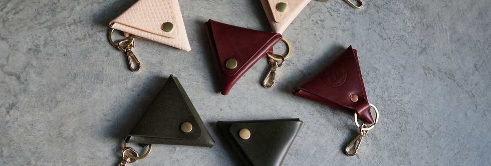 Triangle Coin Pouch Keychain
