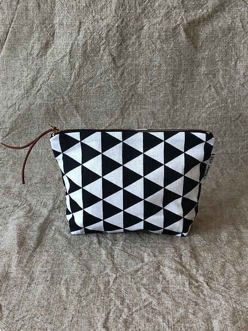 Geometric Scandinavian Fabric Makeup Bag