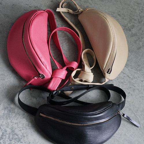 Soft Leather Fanny Pack/Waist Bag