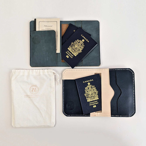 Evelynn Leather Passport Wallet