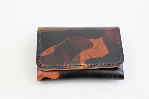 Camouflage Leather Cardholder Wallet