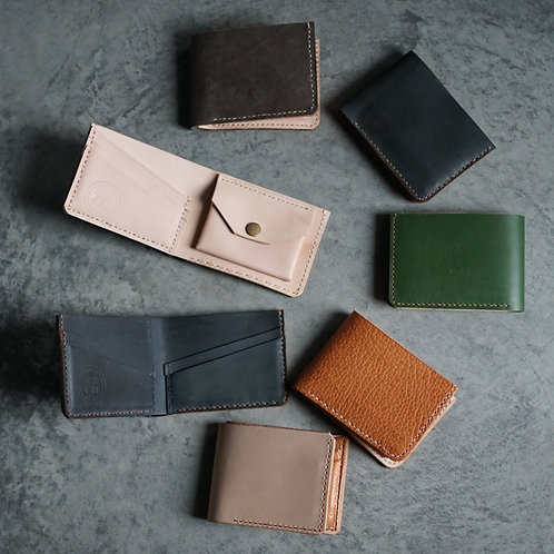 Two Fold Leather Wallets