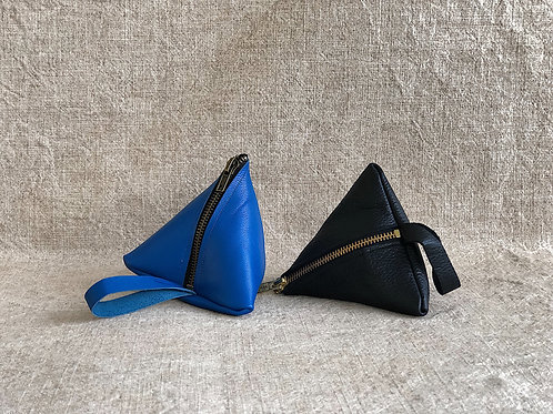 Pyramid Leather Pouch