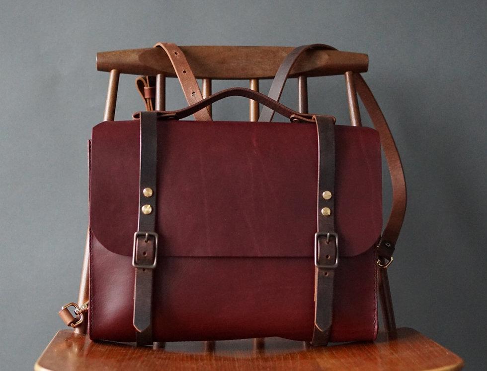 Josephine Satchel/Backpack - Burgendy