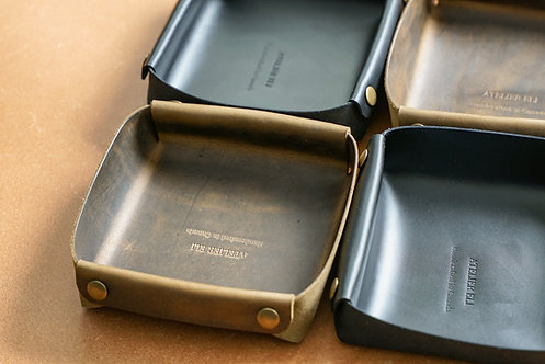 Leather Valet/ Catch-all Tray