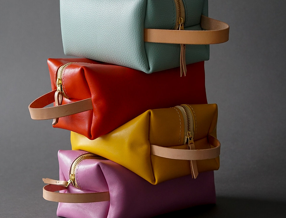 Leather Makeup/Travel Bag