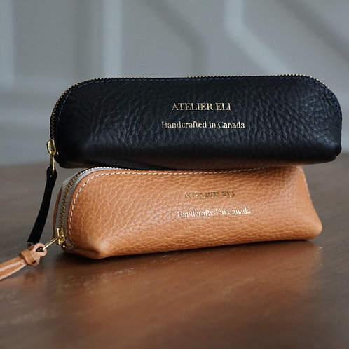 Pebbled Leather Pencil Case