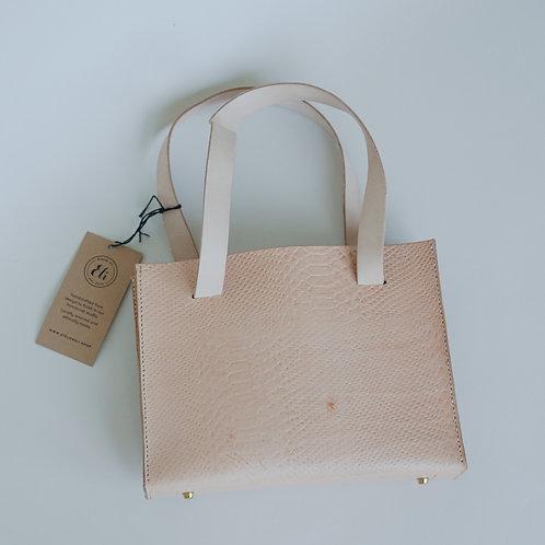Python Embossed Veg-Tanned Sling Leather Handbag