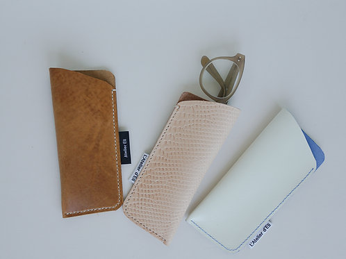 Veg Tan Leather Sunglasses Case