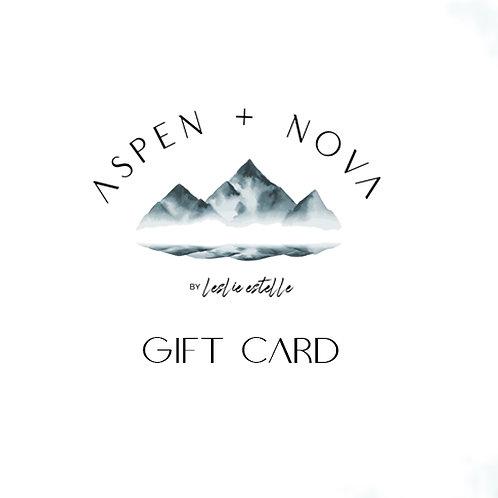 Aspen + Nova Gift Card