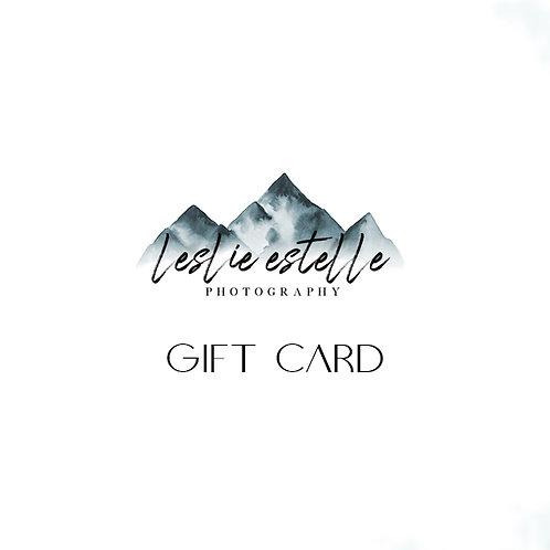 Leslie Estelle Photography Gift Card