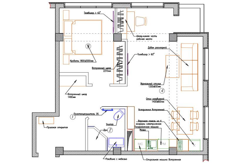 Superior Family One Bed Room Apartment с балконом