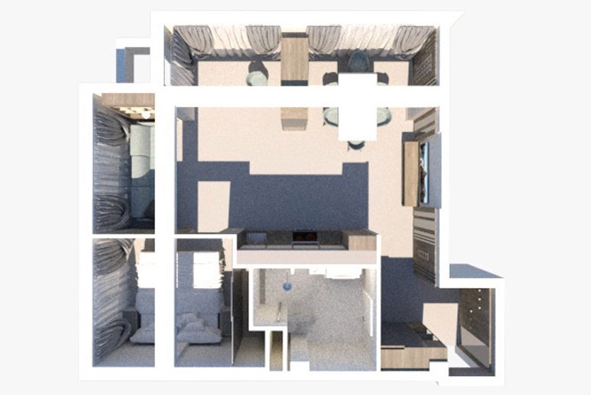 Superior One Bed RoomApartment с балконом