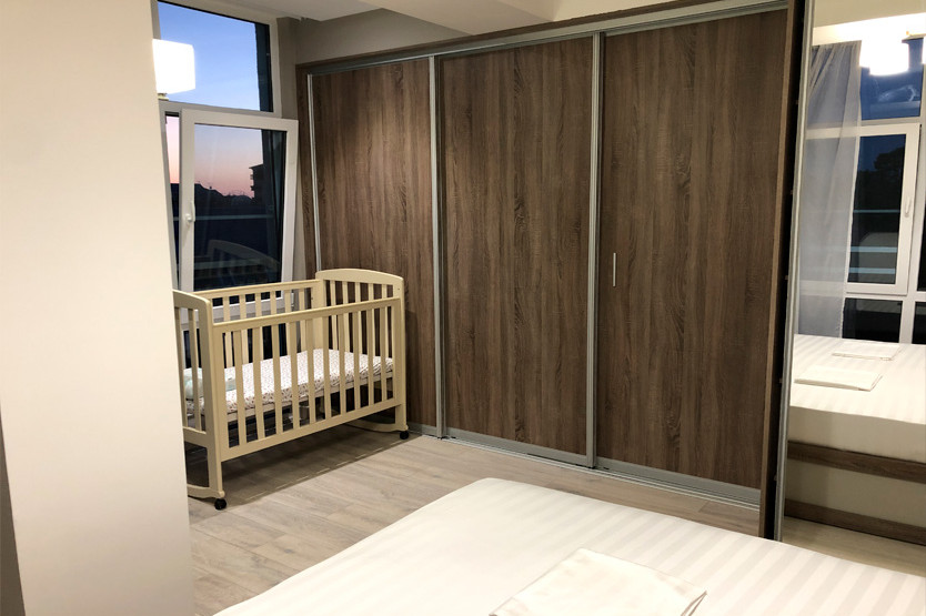 Queen Family. 2Bed Room Apartment с балконом