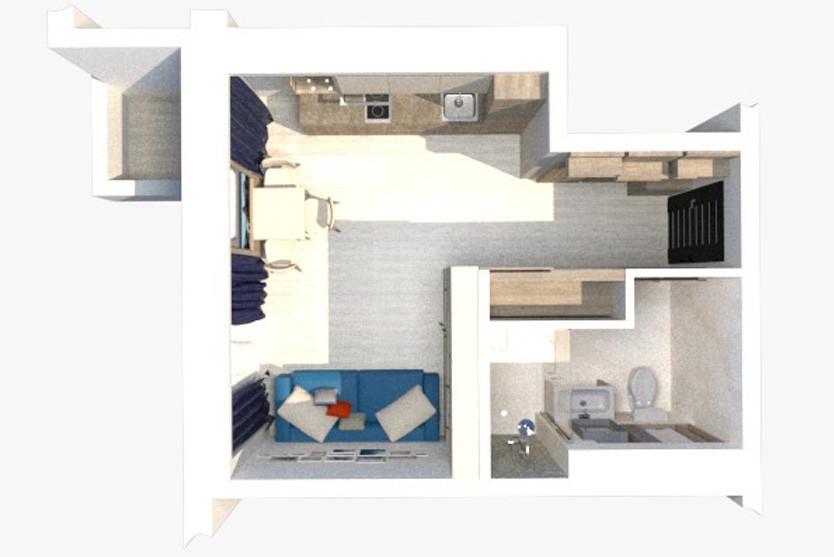 Geo Apart: StudioStandard с Балконом