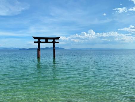 絶景!湖中大鳥居の近江最古のパワースポット@白鬚神社