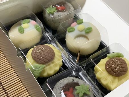 自分で作った練り切りの和菓子に感激♪