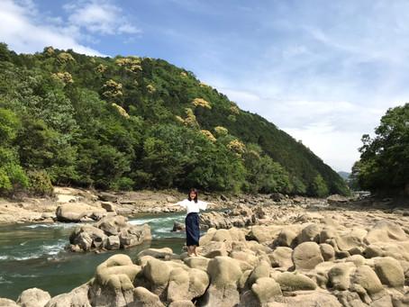 岩フェチ・川派@鹿跳峡の米かし岩