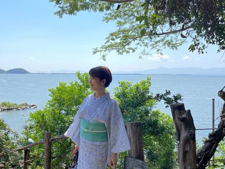 久しぶりの青空の下@シャーレ水が浜・ラコリーナ近江八幡