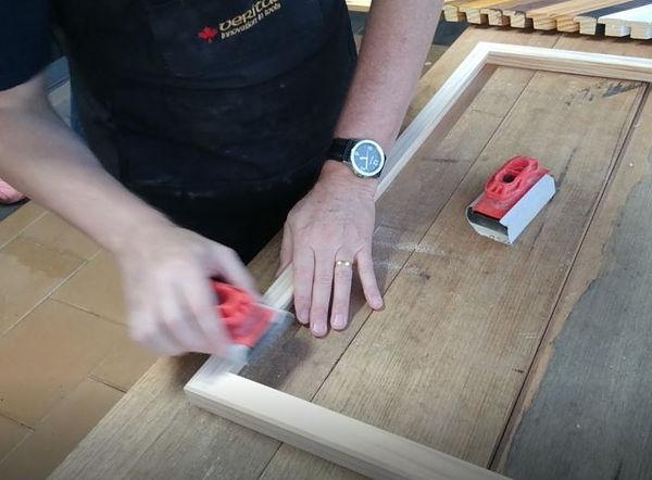 Sanding the Frame.JPG