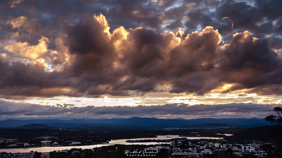 Canberra with heavenly clouds