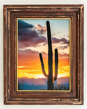 "Picture Frame, 11 X 14"", Distressed Pine"
